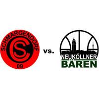 Logos der Vereine SC Schmargendorf und SV Neukölln 09 (Neuköllner Bären)
