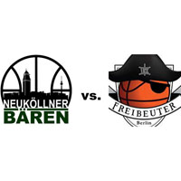 Logos der Vereine SV Neukölln 09 (Neuköllner Bären) und Freibeuter 2010
