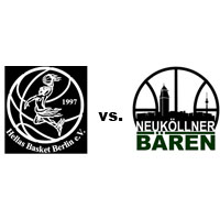 Logos der Vereine Hellas Basket und SV Neukölln 09 (Neuköllner Bären)