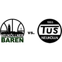 Logos der Vereine SV Neukölln 09 (Neuköllner Bären) und TuS Neukölln
