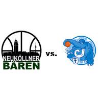 Logos der Vereine SV Neukölln 09 (Neuköllner Bären) und Friedenauer TSC