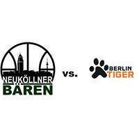 Logos der Vereine SV Neukölln 09 (Neuköllner Bären) und Berlin Tiger