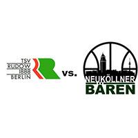 Logos der Vereine TSV Rudow und SV Neukölln 09 (Neuköllner Bären)