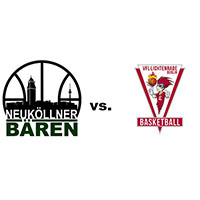 Logos der Vereine SV Neukölln 09 (Neuköllner Bären) und VfL Lichtenrade