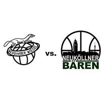 Logos der Vereine Weddinger Wiesel und SV Neukölln 09 (Neuköllner Bären)