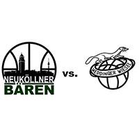 Logos der Vereine SV Neukölln 09 (Neuköllner Bären) und Weddinger Wiesel