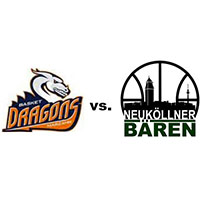 Logos der Vereine Basket Dragons Marzahn und SV Neukölln 09 (Neuköllner Bären)