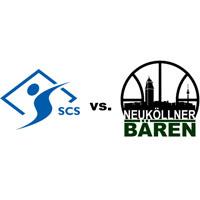 Logos der Vereine SC Siemensstadt und SV Neukölln 09 (Neuköllner Bären)