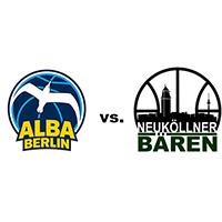 Logos der Vereine Alba Berlin und SV Neukölln 09 (Neuköllner Bären)