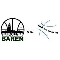 Logos der Vereine SV Neukölln 09 (Neuköllner Bären) und Basketball Berlin Süd