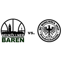 Logos der Vereine SV Neukölln 09 (Neuköllner Bären) und SCB Friedrichsfelde