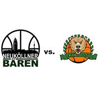 Logos der Vereine SV Neukölln 09 (Neuköllner Bären) und ASV Moabit