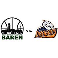 Logos der Vereine SV Neukölln 09 (Neuköllner Bären) und Basket Dragons Marzahn