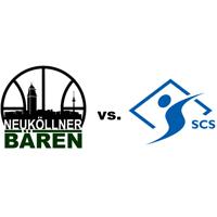 Logos der Vereine SV Neukölln 09 (Neuköllner Bären) und SC Siemensstadt