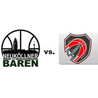 Logos der Vereine SV Neukölln 09 (Neuköllner Bären) und SSC Südwest