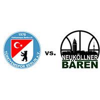 Logos der Vereine Türkiyemspor Berlin und SV Neukölln 09 (Neuköllner Bären)