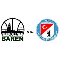 Logos der Vereine SV Neukölln 09 (Neuköllner Bären) und Türkiyemspor Berlin