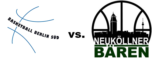 Logos der Vereine Basketball Berlin Süd und SV Neukölln 09 (Neuköllner Bären)
