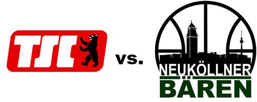 Logos der Vereine Berliner TSC und SV Neukölln 09 (Neuköllner Bären)