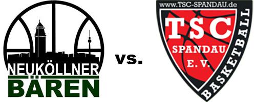 Logos der Vereine TSC Spandau und SV Neukölln 09 (Neuköllner Bären)