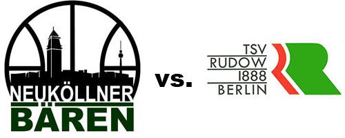 Logos der Vereine SV Neukölln 09 (Neuköllner Bären) und TSV Rudow