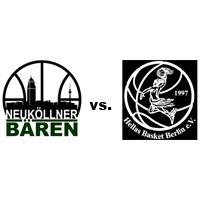 Logos der Vereine SV Neukölln 09 (Neuköllner Bären) und Hellas Basket