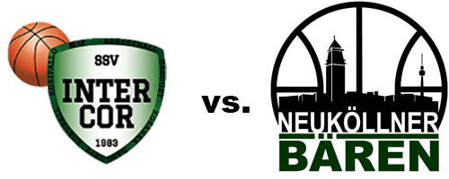 Logos der Vereine SSV Intercor und SV Neukölln 09 (Neuköllner Bären)