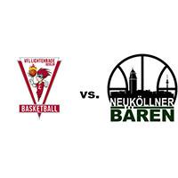 Logos der Vereine Vfl Lichtenrade und SV Neukölln 09 (Neuköllner Bären)