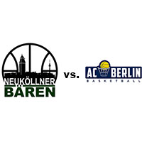 Logos der Vereine SV Neukölln 09 (Neuköllner Bären) und AC Berlin