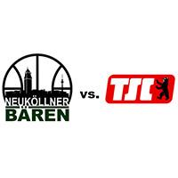 Logos der Vereine SV Neukölln 09 (Neuköllner Bären) und Berliner TSC
