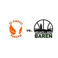 Logos der Vereine SG Einheit Pankow und SV Neukölln 09 (Neuköllner Bären)