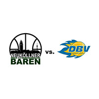 Logos der Vereine SV Neukölln 09 (Neuköllner Bären) und DBV Charlottenburg