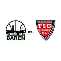 Logos der Vereine SV Neukölln 09 (Neuköllner Bären) und TSC Spandau