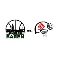 Logos der Vereine SV Neukölln 09 (Neuköllner Bären) und VfB Hermsdorf